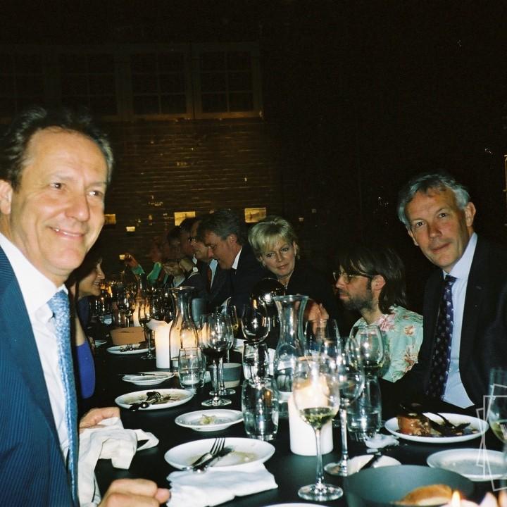 Eindhoven mayor Rob van Gijzel @ VIP dinner with Plasterk