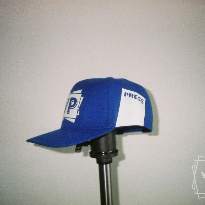 VP baseball / trucker cap PRESS bleu