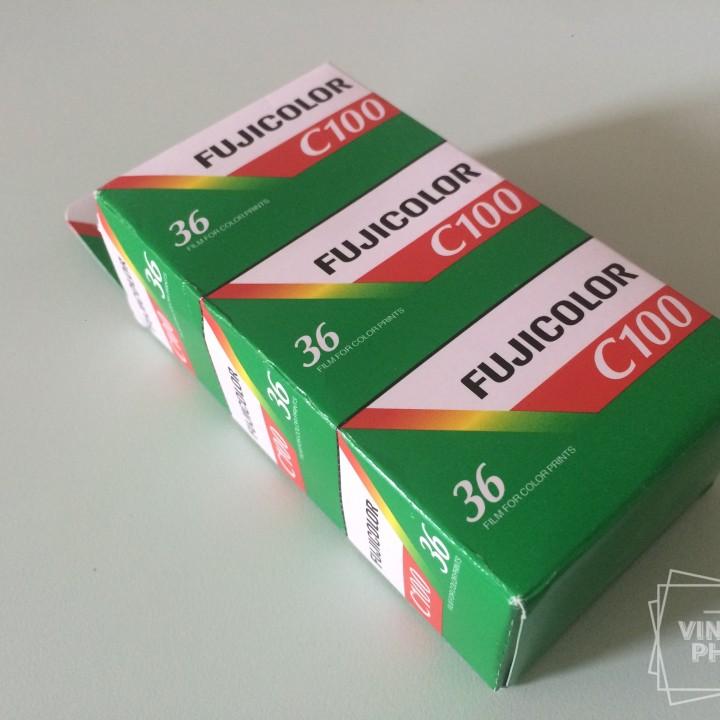 FUJICOLOR C100 135 film 100asa color 36 film vintage 2010exp