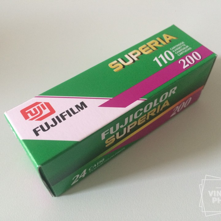 FUJICOLOR superia 110 film 200asa color 24 film vintage 2007exp